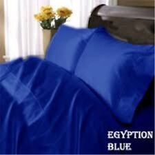 EGYPTIAN BLUE SOLID 1000TC COMPLETE BEDDING SET 100%EGYPTIAN COTTON CHOOSE ITEMS