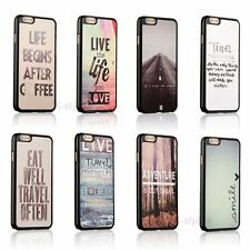 Love Travel Quote Back Hard Cover Skin Case For Apple iPhone 6s / 6s Plus + Film