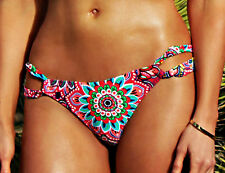 Floral Side Loop Bikini Bottoms (Scrunch Butt Option) - Paisley - Lined - New