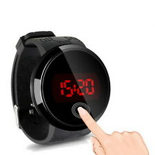 Fashion Waterproof Mens Watch LED Touch Screen Date Silicone Wrist Watch (*