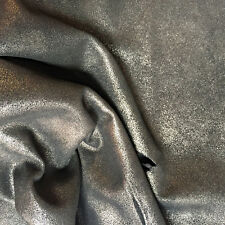 Silver Calf Skin Metallic Genuine Suede Leather Hides Soft Craft Material FS852