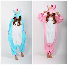 Unicorn Kigurumi Pajamas Animal Cosplay Costume Unisex Adult Onesie Sleepwear
