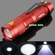 UltraFire Flashlight CREE 300LM 3 Mode LED Light Mini Torch Lamp Red AA 14500