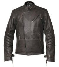 Mens Kendal Distressed Grey & Vintage Brown Leather Jacket