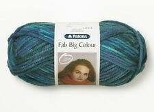 Patons Fab Big Colour Multi Coloured Super Chunky Knitting Wool Yarn 200g