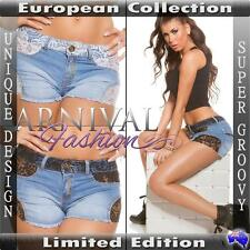 NEW SEXY DESIGNER SHORT JEANS for ladies DENIM HOT PANTS online LACY JEAN SHORTS