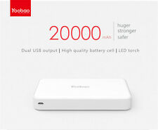 NEW Yoobao® 20000mAh 2.1A Dual USB Portable Battery Power Bank YB-M20 UNIVERSAL