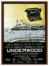 823.Underwood typewriter Art Decoration POSTER.Graphics to decorate home office.