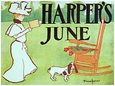 732.Harpers June. Art Wall Decoration POSTER.Graphics to decorate home office.