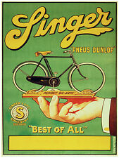 738.Linger Cycles Ad Wall Decoration POSTER.Graphics to decorate home office.