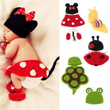 Newborn Baby Girl Boy Crochet Costume Clothes Photo Photography Prop Hat Outfits
