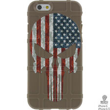 Magpul Field Case for iPhone 6,6s,or 6 PLUS. FDE Punisher USA Flag Ego Tactical