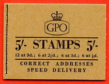 H36 1958 November 5/- Wilding Pre Decimal Booklet