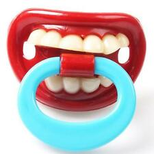 Baby Kids Toddler Assorted Novelty Funny Dummy Prank Soother Pacifier Gifts Q
