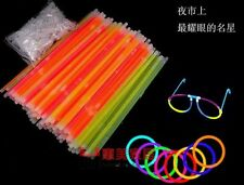Glow In The Dark Sticks Bracelets Necklaces Neon Colors Night Club Party Disco