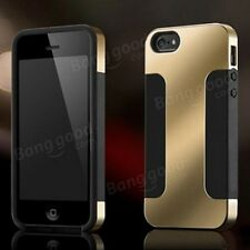 Hybrid Plated PC Soft Silicon Double Layer Case For iPhone 4 4S 5 5S