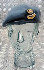 Genuine British Pattern Royal Air Force Blue Grey Officers Beret RAF / WRAF