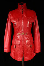 Geneva Glazed Red (1310) Ladies Smart Soft Real Cowhide Leather Jacket