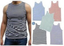 Mens Tank Tops Russian Military TELNYASHKA Army Uniform Striped Cotton Vest Tee