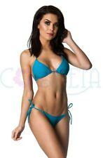 COQUETA Bathing Suit Women mini BRAZILIAN bikini THONG BOTTOM SET whaletail TEAL