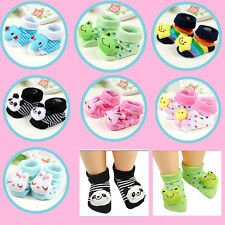 Baby Unisex Kids Toddler Girl Boy Anti-Slip Socks Shoes Slipper Cotton Socks