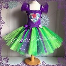 Sparkly Ariel Tutu Dress Little Mermaid Tutu Dress Costume Party Princess Fancy