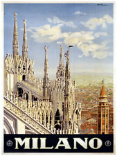 410.Milano Italian Travel Art Decoration POSTER.Graphics to decorate home office