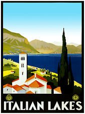 405. Italian Lakes Travel Art Decoration POSTER.Graphics to decorate home office
