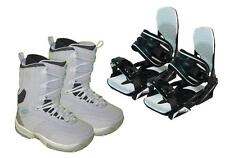 Airwalk Spice Snowboard Boots & Symbolic Bindings Package + roxy decal Womens 7