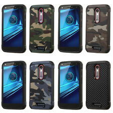 Stylish Camouflage Carbon Fiber Hybrid Cover Phone Case Motorola Droid Turbo 2