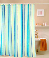 "71"" Polyester Stripes Blue Cool Bath Waterproof Shower Curtain Fabric Home Decor"