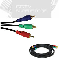 Component Video Cable 3 RCA 3ft 6ft 50ft 100ft Gold Plated For RGB HDTV DVD VCR
