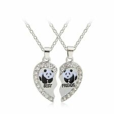 2pcs Animals Best Friends Heart Friendship Pendant Necklaces Sets Lucky Gifts