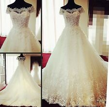 Lace White Ivory Wedding Dress Bridal Gown Custom Size 6/8/10/12/14/16/18/20+