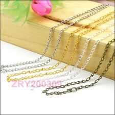 8Strands 2mm Ring Findings Chains/Necklace 50cm Silver/Gold/Bronze etc. R0158