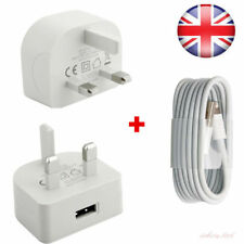 GENUINE CE USB MAINS PLUG CHARGER +3M CABLE LEAD For iPhone 4 4S 3GS iPod