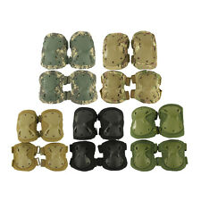 High Quality Airsoft Tactical Knee + Elbow Protective Pads Set Green/Tan/ACU/CP