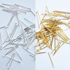 200P Silver/Gold Plated Head Pins 16mm Findings Craft Beading Metal Flat FST