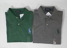 POLO RALPH LAUREN MENS PRO FIT PIMA COTTON STRIPED SHIRT GREEN OR GRAY  -NWT
