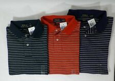 POLO RALPH LAUREN MENS CUSTOM FIT COTTON KNIT STRIPED SHIRT SIZE S , M  OR L-NWT