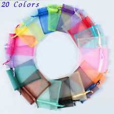Wedding Party XMAS Favour Organza Sheer Gift Bags Jewellery Pouch Candy Bags