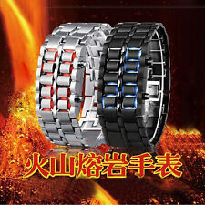 NEW ARRIVALS Lava Iron Samurai Metal LED Wrist Watch Fashion Mens Boys Watches