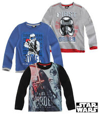 Boys OFFICIAL Star Wars THE CLONE WARS Long Sleeved Top Ages 5-12 Years