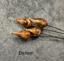Vermillion - Handmade Glass Lampwork Headpins SRA MTO - Choose Etched or Glossy