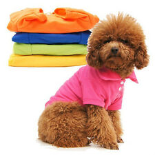 Pet Puppy Summer Polo Shirt Small Dog Cat Pet Clothes Costume Apparel T-Shirts