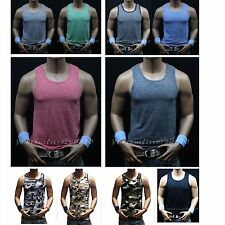 Men Slim Fit Muscle Plain Tank Top Sleeveless T-Shirts A-Shirt Gym bodybuilding