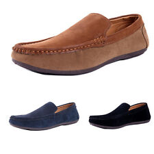 Fashion Mens Driving Moccasin Loafer Suede Slip On Casual Comfort Flat Boat Shoe