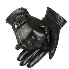 HOT Mens Vogue Cashmere Leather Gloves Winter Super Warm Driving Mittens Gloves