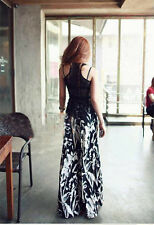 Long Gaucho Boho Flare Elephant Wide Leg Casual Tie-dyed wide leg pants