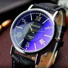 New Arrivals Luxury Mens-watches Classic Leather Band Analog Quartz Wrist Watch